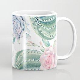 Cactus Rose Succulents Coffee Mug