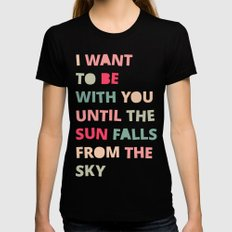 Until the Sun Falls from the Sky Black Womens Fitted Tee MEDIUM