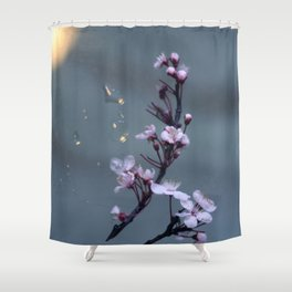 cherry blossoms in the sun Shower Curtain