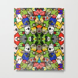Everybirdy Pattern Metal Print