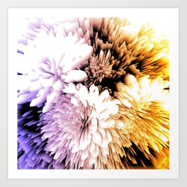 Mums abstract with shades of purple and gold Art Print