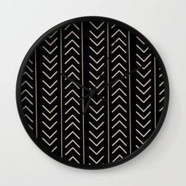 Mudcloth Black Wall Clock
