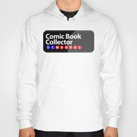 comic book Hoodies featuring Comic Book Collector by 1982 est. by A.W. Owens
