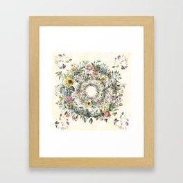 Circle of Life Cream Framed Art Print
