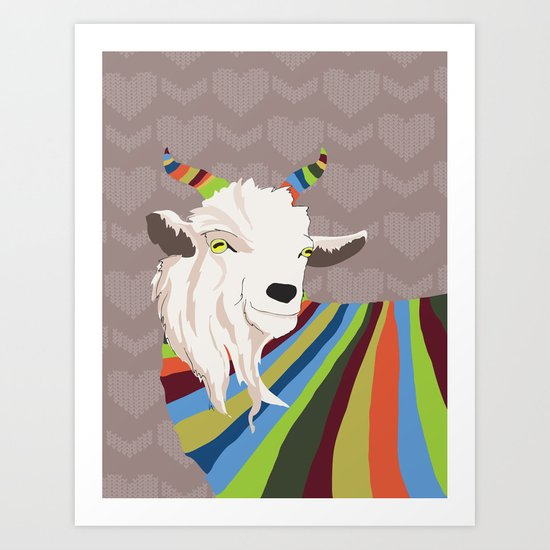 Sweater Goat Art Print