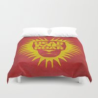 lannister Duvet Covers featuring House Lannister - Hear Me Roar by Jack Howse