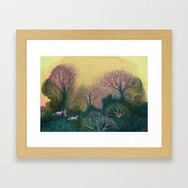 Familiar Woods Framed Art Print