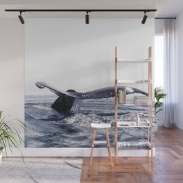 WHALE SONG 1 - DEEP DIVE Wall Mural