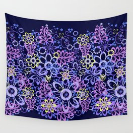 Summer night flowers Wall Tapestry