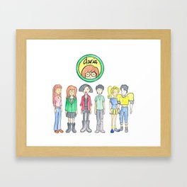 Daria and Friends Framed Art Print