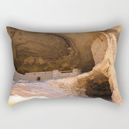 Ancient Pueblo - Gila Cliff Dwellings Rectangular Pillow