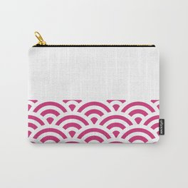 Rainbow Trim Bright Pink Gum Carry-All Pouch