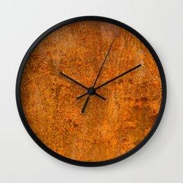 Abstract Rust Wall Wall Clock