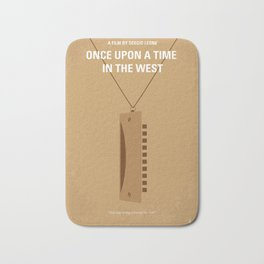 No059 My once upon a time in the west minimal movie poster Bath Mat