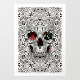 Lace Skull Light Art Print