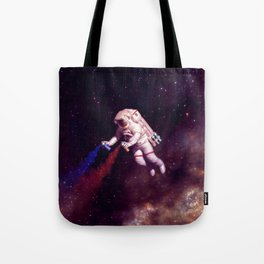 """Shooting Stars"" - Astronaut Artist Tote Bag"