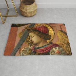 """Fra Filippo Lippi """"The Archangel Michael"""" Rug"""