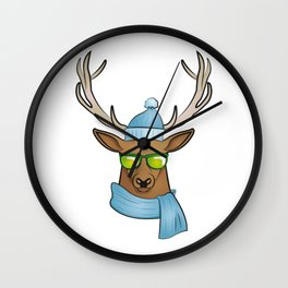 cool stag Wall Clock