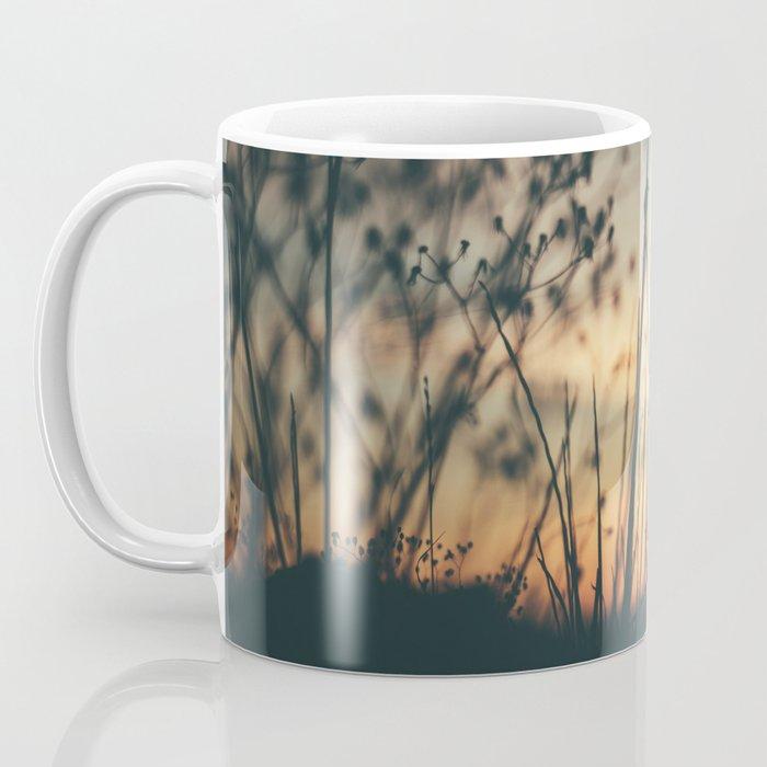 Vintage Wild Grass Sunset Coffee Mug