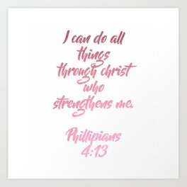 Bible Verse Art Print