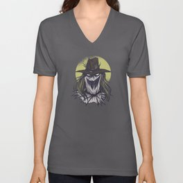 Creepy Scary Creature Best Gift Unisex V-Neck