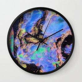 Iridescent Marble Wall Clock