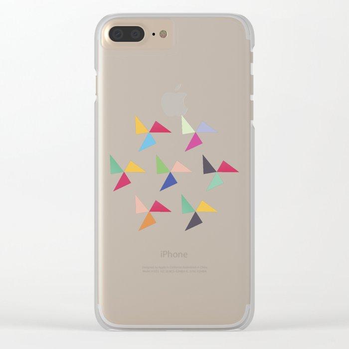 Colorful geometric pattern III Clear iPhone Case