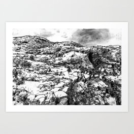 Desert_rocks Art Print