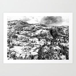 Desert_rocks Art Print