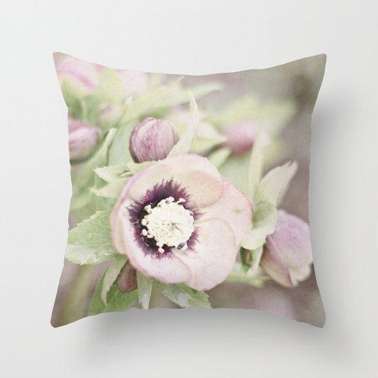 Pastel Flowers Throw Pillow