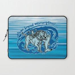 (v2) Swim Beyond Misconceptions Laptop Sleeve