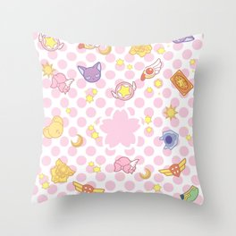 cardcaptor sakura cute pattern Throw Pillow