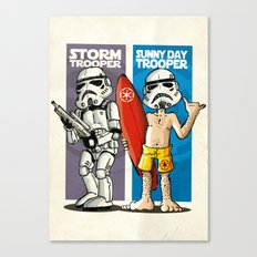 Storm and Sunny Day Trooper Canvas Print