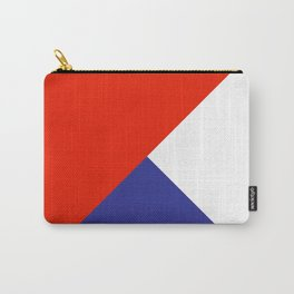 Triangles Retro Pop Art Abstract - Red White Blue Series Carry-All Pouch