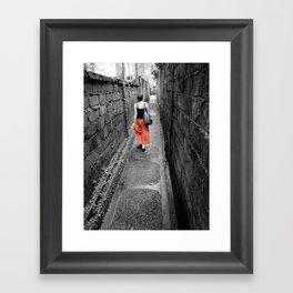 Damp Passage Framed Art Print