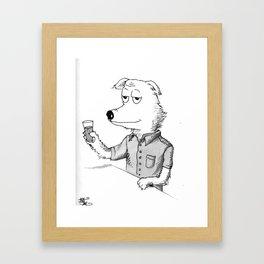Beer Dog Framed Art Print