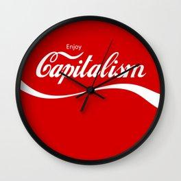 Enjoy Capitalism Wall Clock