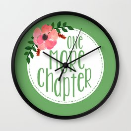 One More Chapter - Green Wall Clock