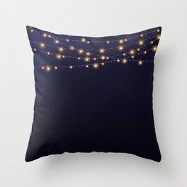Modern string lights Throw Pillow