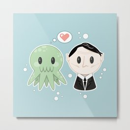 Lovecraft and Chtulhu Metal Print