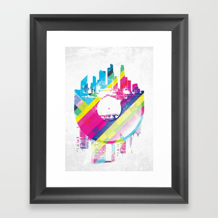 Urban Vinyl V2 Framed Art Print