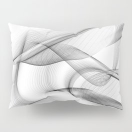Minimal black and white smoky flux in motion #abstractart #decor Pillow Sham