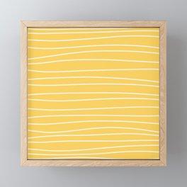 Sunshine Brush Lines Framed Mini Art Print