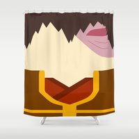 airbender Shower Curtains featuring Zuko by Lindsay Isenhour