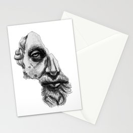 Marcus Aurelius classic sculpture portrait Stationery Cards