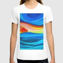 Coastal Sunrise landscape painting by Pierluigi Bossi T-shirt