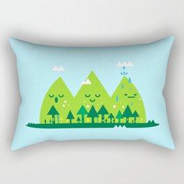 Monday Mountains Rectangular Pillow