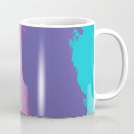Leo Tolstoy portrait blue and purple Coffee Mug