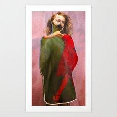 New Red Dress Art Print