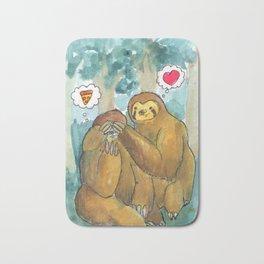 sloth love Bath Mat